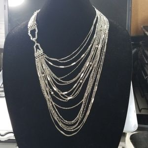 Chloe + Isabel Silver Art Deco Chain Necklace